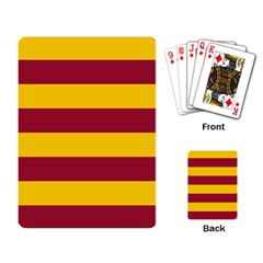 Oswald s Stripes Red Yellow Playing Card by Mariart
