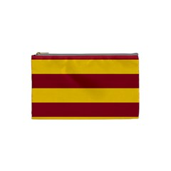 Oswald s Stripes Red Yellow Cosmetic Bag (small)  by Mariart