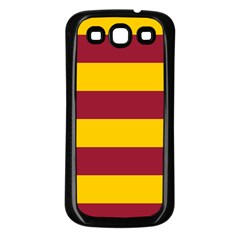 Oswald s Stripes Red Yellow Samsung Galaxy S3 Back Case (black) by Mariart