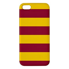 Oswald s Stripes Red Yellow Iphone 5s/ Se Premium Hardshell Case by Mariart