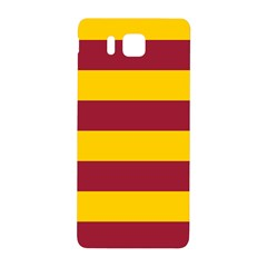 Oswald s Stripes Red Yellow Samsung Galaxy Alpha Hardshell Back Case by Mariart