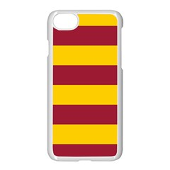 Oswald s Stripes Red Yellow Apple Iphone 7 Seamless Case (white) by Mariart