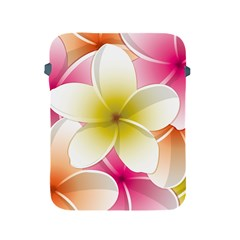 Frangipani Flower Floral White Pink Yellow Apple Ipad 2/3/4 Protective Soft Cases by Mariart