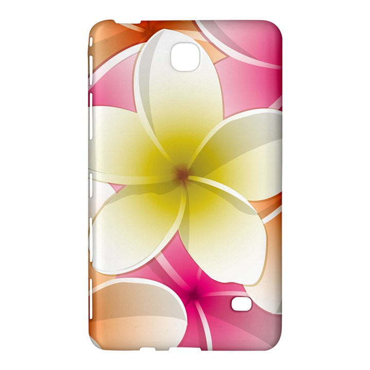 Frangipani Flower Floral White Pink Yellow Samsung Galaxy Tab 4 (7 ) Hardshell Case