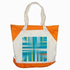 Lines Blue Stripes Accent Tote Bag by Mariart