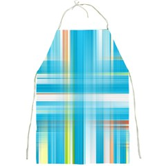 Lines Blue Stripes Full Print Aprons by Mariart
