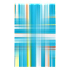 Lines Blue Stripes Shower Curtain 48  X 72  (small)  by Mariart