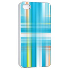 Lines Blue Stripes Apple Iphone 4/4s Seamless Case (white) by Mariart