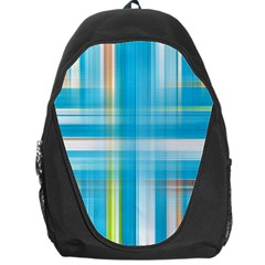 Lines Blue Stripes Backpack Bag by Mariart