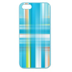 Lines Blue Stripes Apple Seamless Iphone 5 Case (color) by Mariart