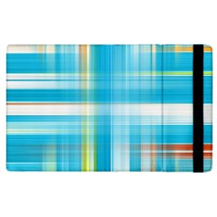 Lines Blue Stripes Apple Ipad 2 Flip Case by Mariart