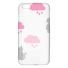 Raining Cats Dogs White Pink Cloud Rain Iphone 6 Plus/6s Plus Tpu Case by Mariart