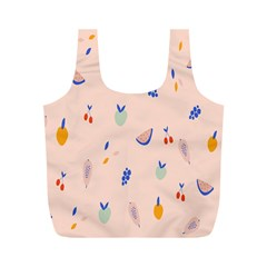 Papaya Apple Cherry Wine Fruit Pink Purple Full Print Recycle Bags (m)  by Mariart