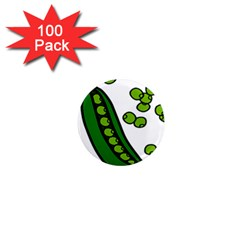 Peas Green Peanute Circle 1  Mini Magnets (100 Pack)  by Mariart