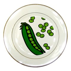 Peas Green Peanute Circle Porcelain Plates by Mariart