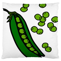 Peas Green Peanute Circle Large Flano Cushion Case (two Sides)