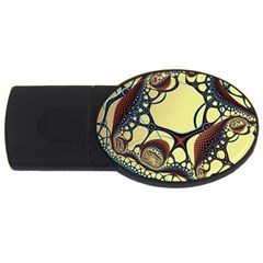 Labels Net Circle Brown Usb Flash Drive Oval (4 Gb) by Mariart