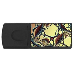Labels Net Circle Brown Usb Flash Drive Rectangular (4 Gb) by Mariart