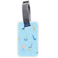 Seat Blue Polka Dot Luggage Tags (two Sides) by Mariart