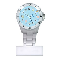 Seat Blue Polka Dot Plastic Nurses Watch by Mariart