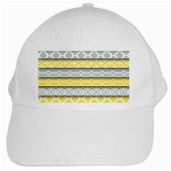 Paper Yellow Grey Digital White Cap by Mariart
