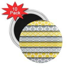 Paper Yellow Grey Digital 2 25  Magnets (10 Pack)  by Mariart