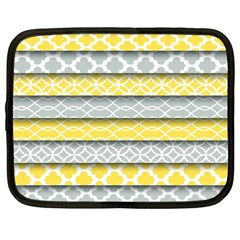 Paper Yellow Grey Digital Netbook Case (large) by Mariart