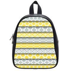 Paper Yellow Grey Digital School Bags (small)  by Mariart