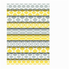 Paper Yellow Grey Digital Large Garden Flag (two Sides) by Mariart
