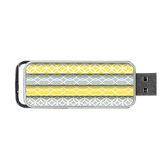 Paper Yellow Grey Digital Portable Usb Flash (one Side) by Mariart