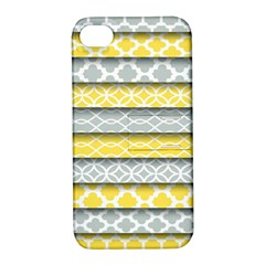 Paper Yellow Grey Digital Apple Iphone 4/4s Hardshell Case With Stand by Mariart