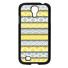 Paper Yellow Grey Digital Samsung Galaxy S4 I9500/ I9505 Case (black) by Mariart