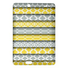 Paper Yellow Grey Digital Amazon Kindle Fire Hd (2013) Hardshell Case by Mariart