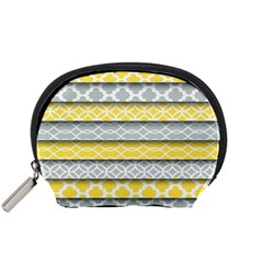 Paper Yellow Grey Digital Accessory Pouches (small)  by Mariart