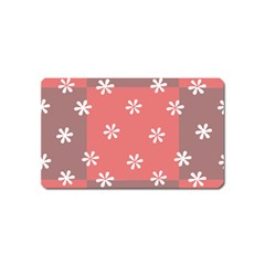 Seed Life Seamless Remix Flower Floral Red White Magnet (name Card) by Mariart