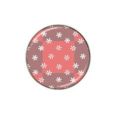 Seed Life Seamless Remix Flower Floral Red White Hat Clip Ball Marker by Mariart