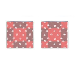 Seed Life Seamless Remix Flower Floral Red White Cufflinks (square) by Mariart