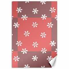 Seed Life Seamless Remix Flower Floral Red White Canvas 12  X 18   by Mariart