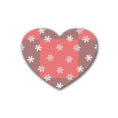Seed Life Seamless Remix Flower Floral Red White Heart Coaster (4 Pack)  by Mariart