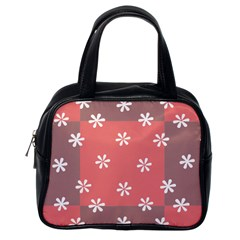Seed Life Seamless Remix Flower Floral Red White Classic Handbags (one Side) by Mariart