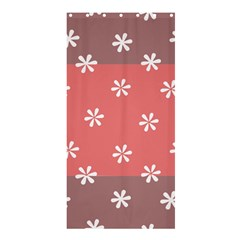 Seed Life Seamless Remix Flower Floral Red White Shower Curtain 36  X 72  (stall)  by Mariart