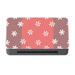 Seed Life Seamless Remix Flower Floral Red White Memory Card Reader With Cf by Mariart