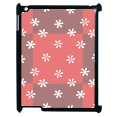 Seed Life Seamless Remix Flower Floral Red White Apple Ipad 2 Case (black) by Mariart