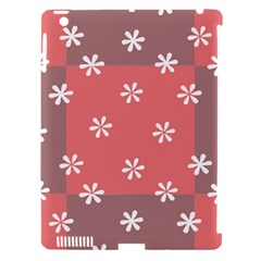 Seed Life Seamless Remix Flower Floral Red White Apple Ipad 3/4 Hardshell Case (compatible With Smart Cover) by Mariart