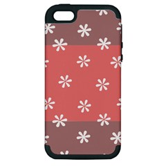 Seed Life Seamless Remix Flower Floral Red White Apple Iphone 5 Hardshell Case (pc+silicone) by Mariart