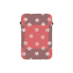 Seed Life Seamless Remix Flower Floral Red White Apple iPad Mini Protective Soft Cases