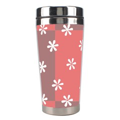 Seed Life Seamless Remix Flower Floral Red White Stainless Steel Travel Tumblers