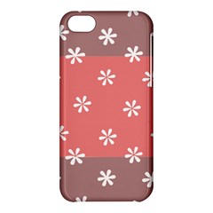 Seed Life Seamless Remix Flower Floral Red White Apple Iphone 5c Hardshell Case by Mariart