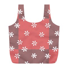 Seed Life Seamless Remix Flower Floral Red White Full Print Recycle Bags (l)  by Mariart
