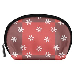 Seed Life Seamless Remix Flower Floral Red White Accessory Pouches (large)  by Mariart